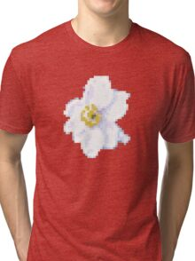 different 8bit flower Tri-blend T-Shirt