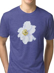 different 8bit flower Tri-blend T-Shirt