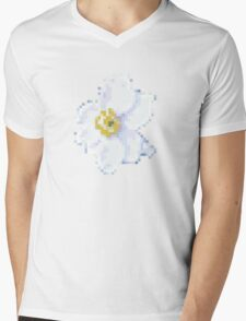 different 8bit flower Mens V-Neck T-Shirt