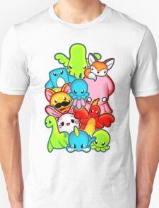 Kawaii Friends. Adorable Creatures. Plushie Party Unisex T-Shirt