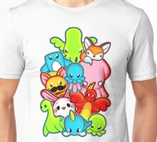 Kawaii Friends. Adorable Creatures. Plushie Party Unisex T-Shirt