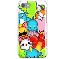 Kawaii Friends. Adorable Creatures. Plushie Party iPhone Case/Skin