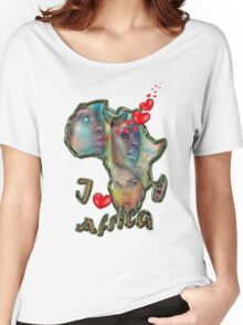I love Africa Women's Relaxed Fit T-Shirt