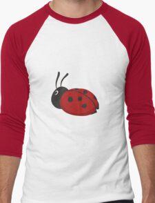 Cartoon Ladybug Men's Baseball ¾ T-Shirt