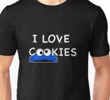 Cookie Monster I love cookies Unisex T-Shirt