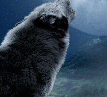 Howling Wolf Sticker
