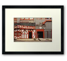 it was dark as i drove the point home Framed Print