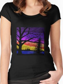 Glazed Sunset  Women's Fitted Scoop T-Shirt