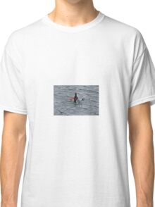 Black guillemot diving for lunch. Classic T-Shirt