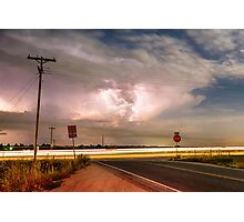 Intersection Storm Photographic Print