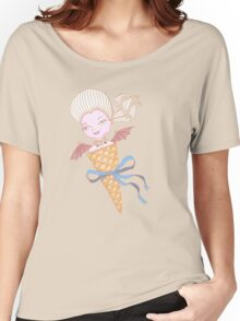 Marie Antoinette Ice Cream Cone with Bat Wings Women's Relaxed Fit T-Shirt