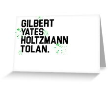 Ghostbuster Team - Slime ectoplasm Greeting Card