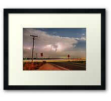 Lightning Leading Lines Framed Print