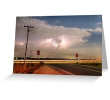 Lightning Leading Lines Greeting Card