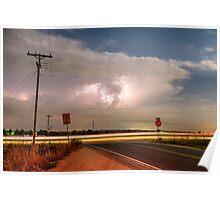 Lightning Leading Lines Poster