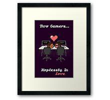 Cute Gamer Couple Framed Print