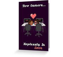 Cute Gamer Couple Greeting Card