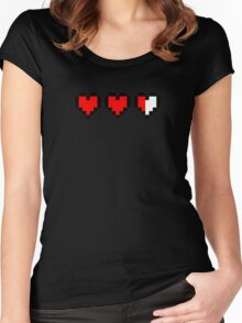Two and a half hearts Women's Fitted Scoop T-Shirt