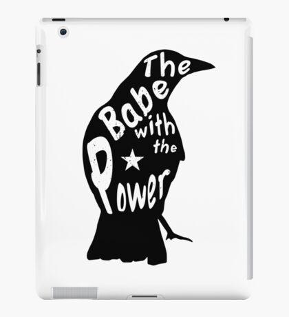 Crow Babe Power Black iPad Case/Skin