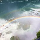 Rainbow -  Niagara Falls by Cathy Cale