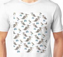 blue foot bobbie pattern Unisex T-Shirt