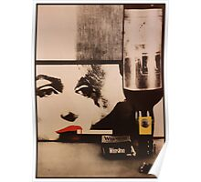 Marylin smokes Winston Poster