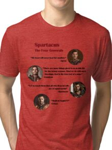 Quotes from The Four Generals (Spartacus) Tri-blend T-Shirt