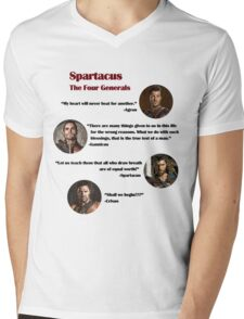Quotes from The Four Generals (Spartacus) Mens V-Neck T-Shirt