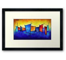 Esseniumos V1 - square abstract Framed Print