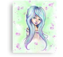 Rainbow Girl - Emo Mermaid Hair  Canvas Print