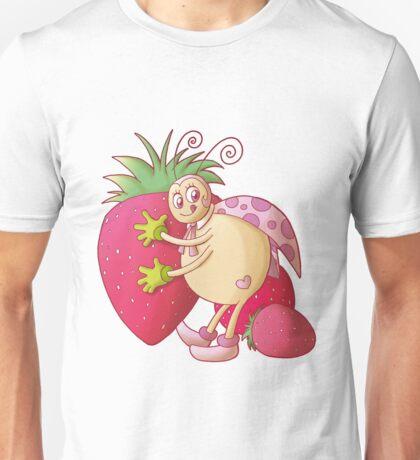 Ladybug with strawberries Unisex T-Shirt