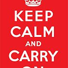 Keep Calm poster - Red by catherine-rose