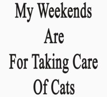 My Weekends Are For Taking Care Of Cats  by supernova23