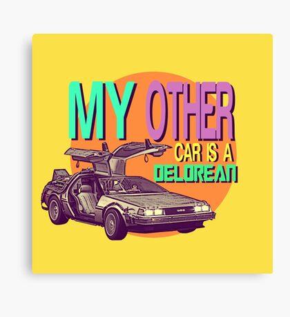 DeLorean Canvas Print