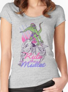 Mullet Surfer Women's Fitted Scoop T-Shirt