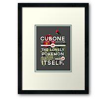 Cubone Framed Print