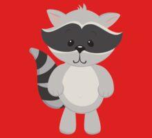 Cartoon Raccoon Kids Tee
