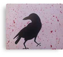 Spattered Crow Canvas Print