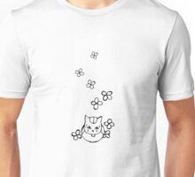 Nyanko-sensei with Flowers Black Ver. Unisex T-Shirt