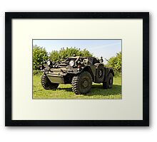 An ex British Army Ferret Armoured Car  Framed Print