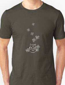 Nyanko-sensei with Flowers White Ver. Unisex T-Shirt