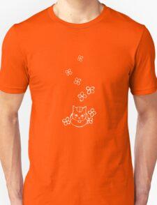 Nyanko-sensei with Flowers White Ver. Unisex T-Shirt