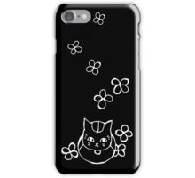 Nyanko-sensei with Flowers White Ver. iPhone Case/Skin