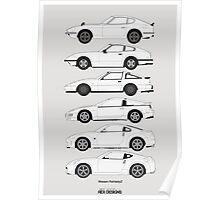 Nissan Fairlady Z History Poster