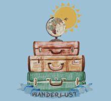 Wanderlust - World Traveler  Kids Tee