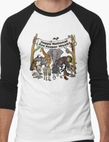 Happy National Zoo Keeper Week Men's Baseball ¾ T-Shirt