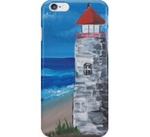 Lighthouse On The Beach iPhone Case/Skin