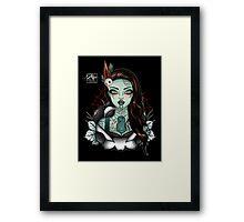 Miss Aotearoa BROWN Hair Framed Print
