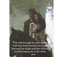Outlander Quote/Jamie & Claire Fraser/Rock-solid head Photographic Print