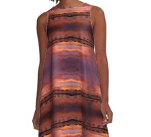 Poolside Sundowner A-Line Dress